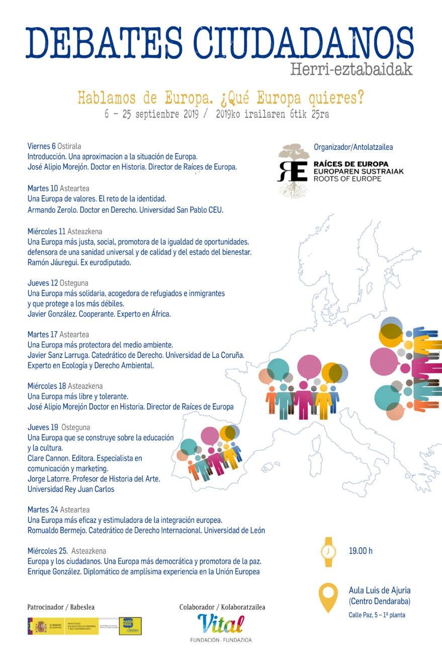 """Ciclo de Debates Ciudadanos, bajo el título: """"Hablamos de Europa. ¿Qué Europa quieres?"""" @ Aula Luis de Ajuria"""