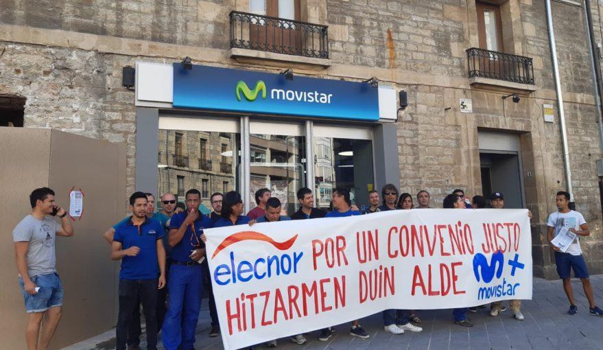 huelga elecnor movistar instaladores