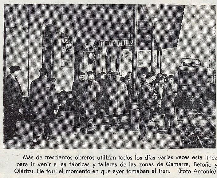 Fotografía de la crónica en el periódico Norte Exprés el día del cierre de la línea el 31 de diciembre de 1967. Liburukik. Norte Exprés 31-12-1967.