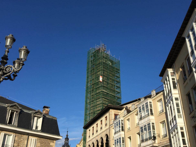 Cigüeñas torre de san Vicente