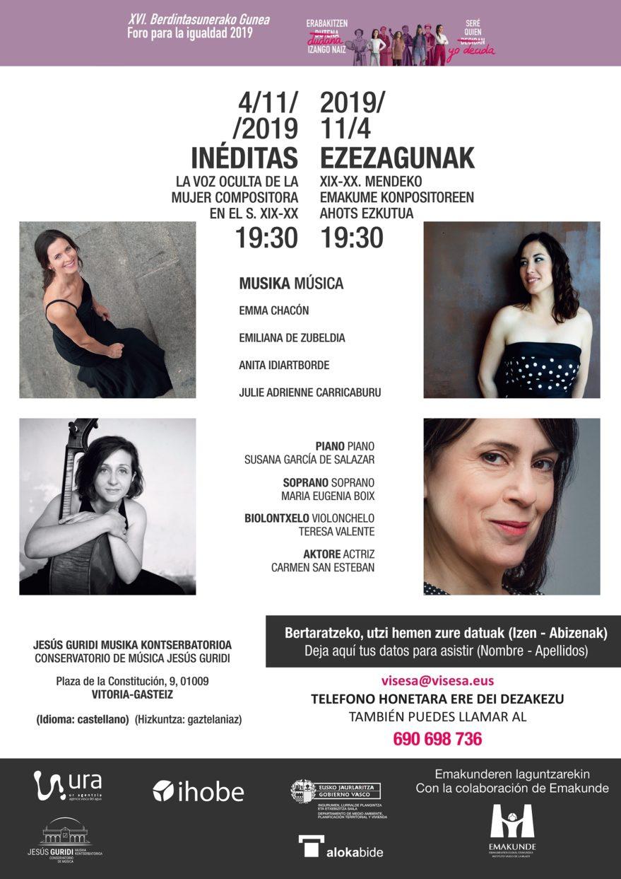 "Concierto ""Inéditas"" @ Conservatorio Jesús Guridi"