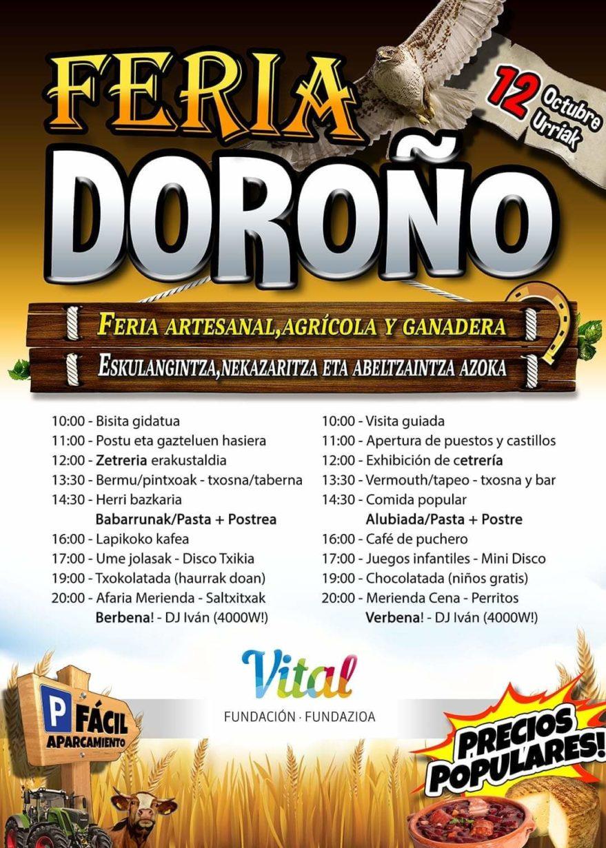 Cartel Feria Doroño 2019