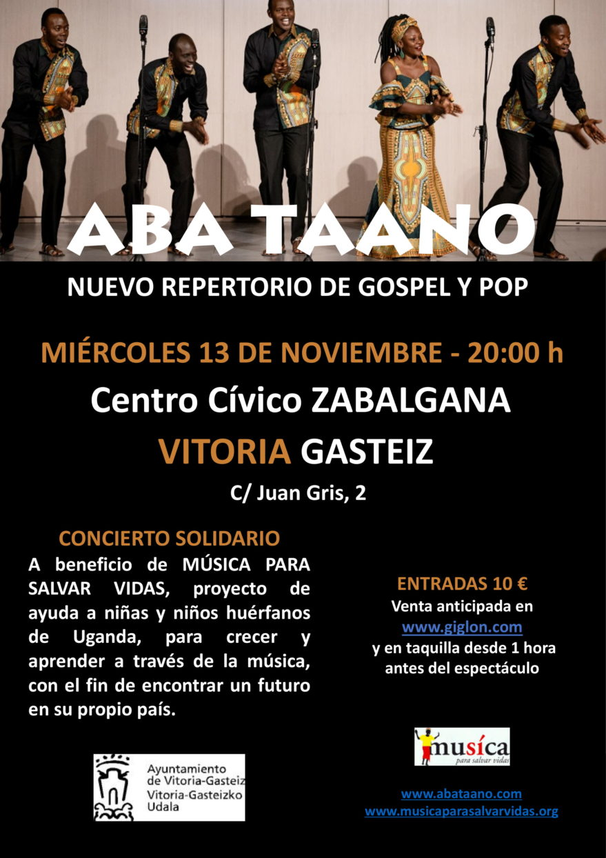 Concierto de gospel del grupo Aba Taano @ Centro cívico Zabalgana