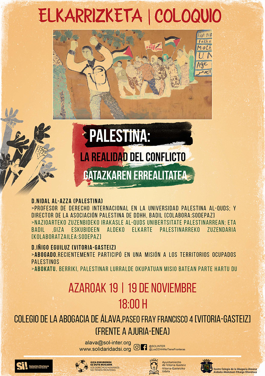 Cartel Palestina Coloquio Vitoria