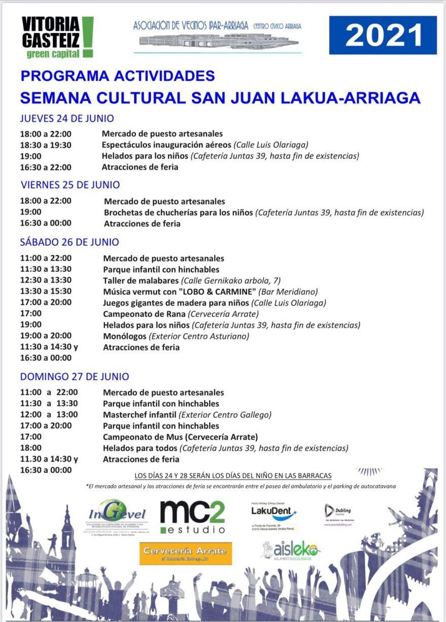 Fiestas de Lakua Arriaga2021