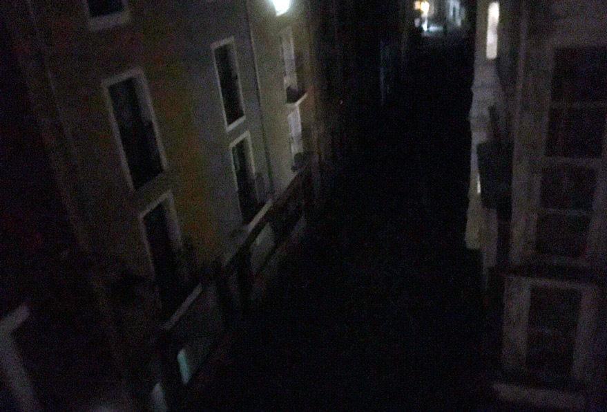 oscuridad calle Casco Viejo