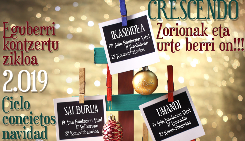 Cartel conciertos Navidad