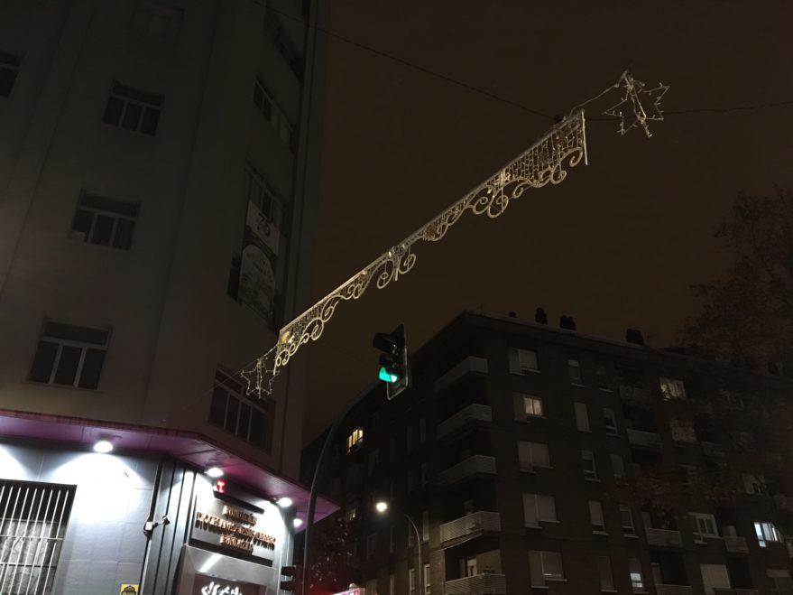 luces de navidad apagadas