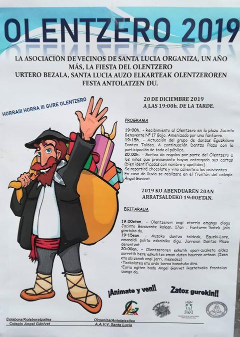 Olentzero en Santa Lucía @ Santa Lucía