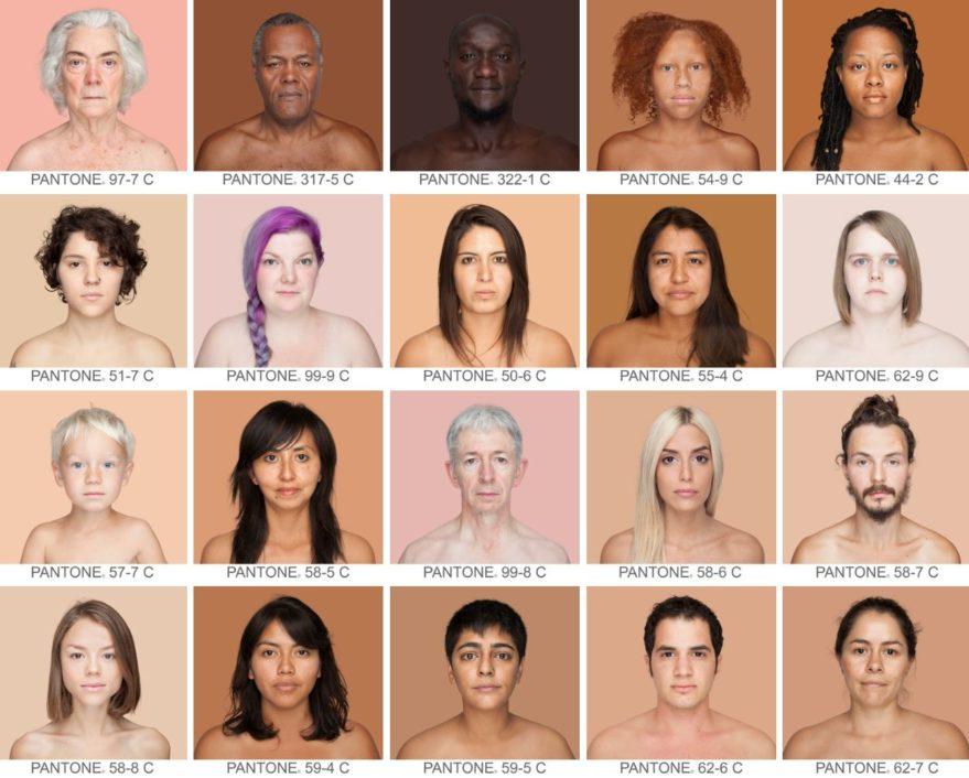 humanae exposicion color piel
