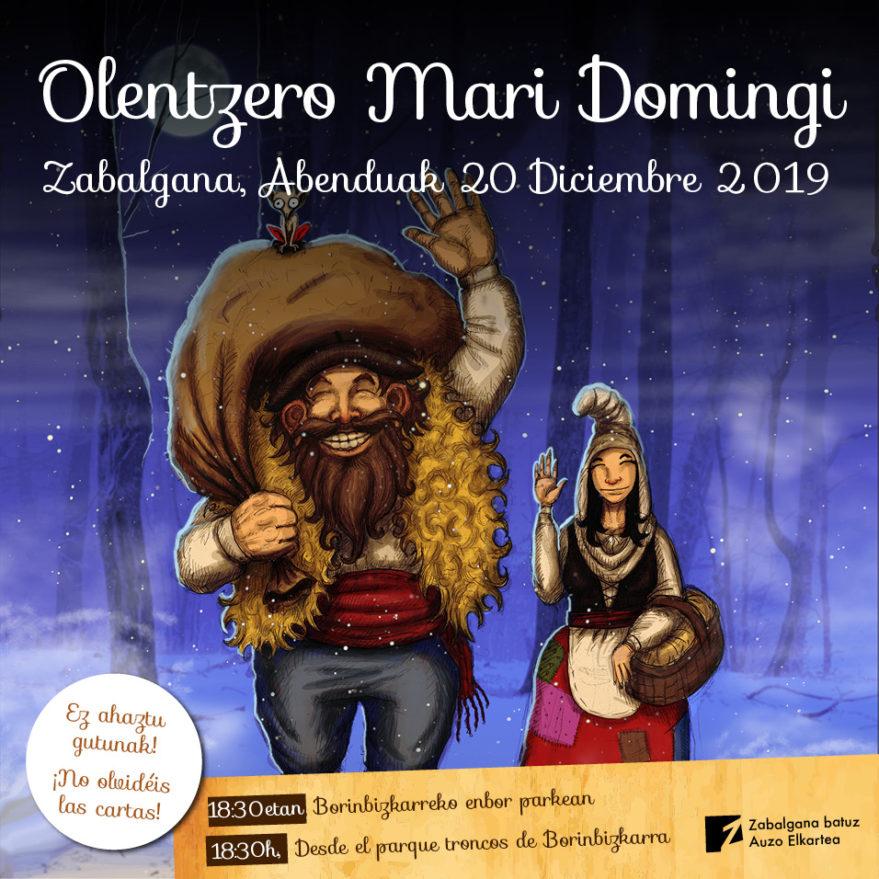 Olentzero y Mari Domingi en Zabalgana @ Parque naturalizado de Borinbizkarra