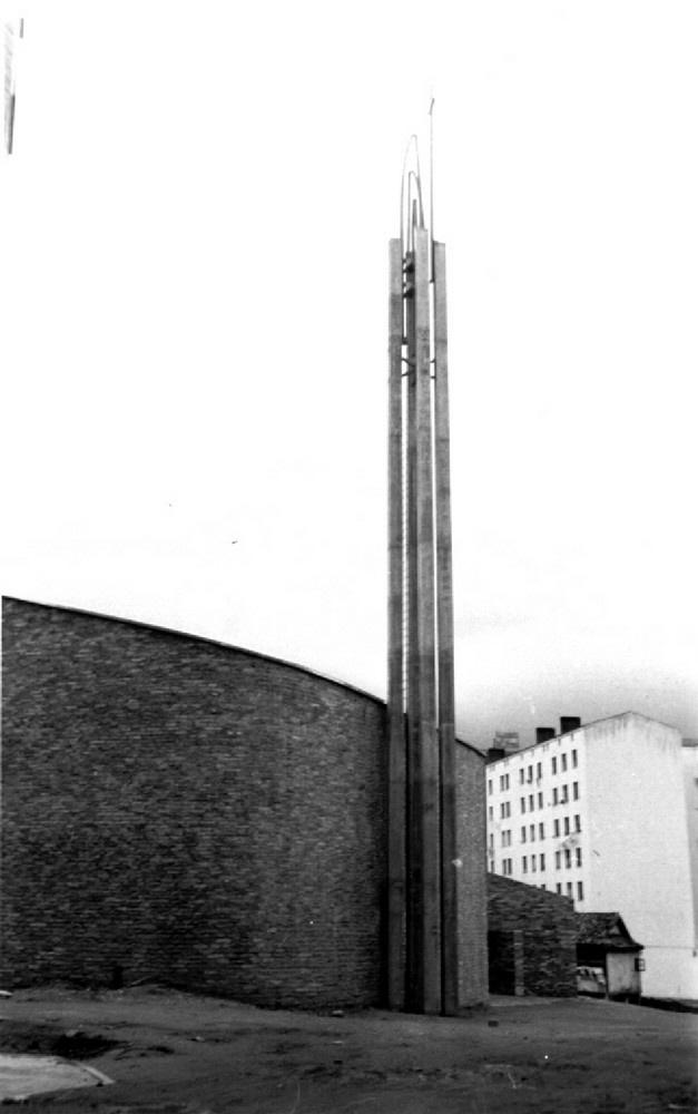 Aspecto de la iglesia de Coronación hacia 1961. Arabadok.