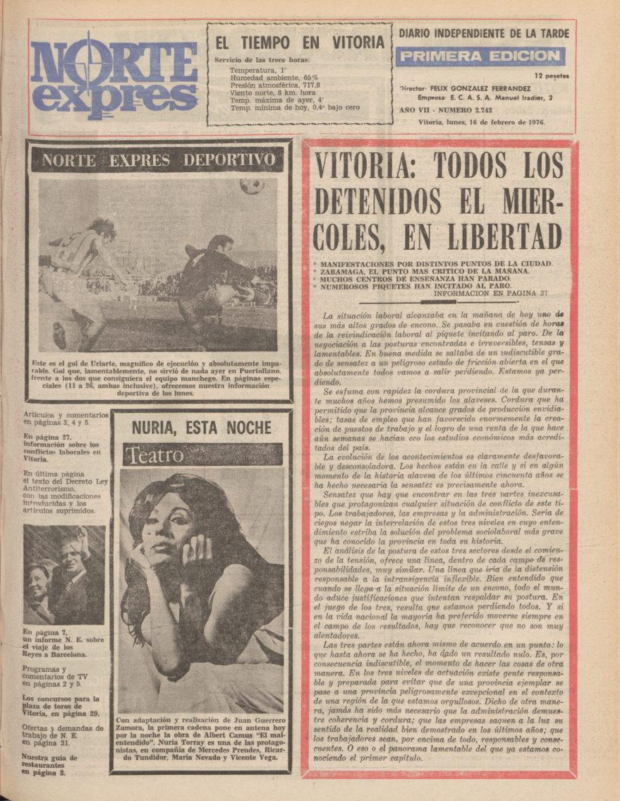 huelga general 1976
