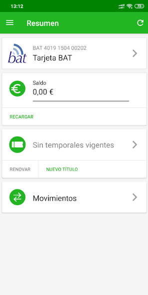 app tarjeta bat
