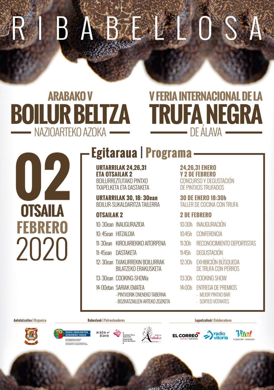 Cartel V Feria Internacional de la Trufa Negra de Álava