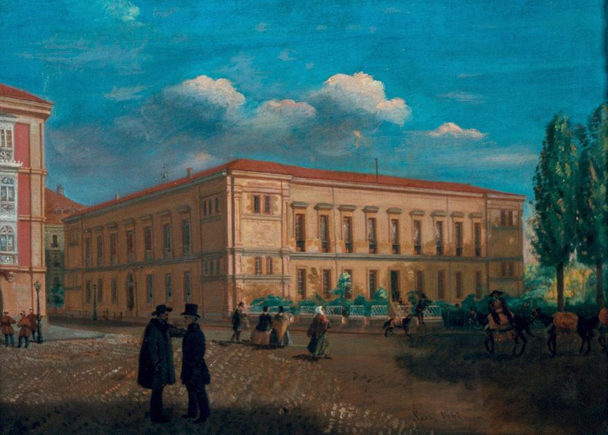 Vista del Instituto, actual Parlamento Vasco