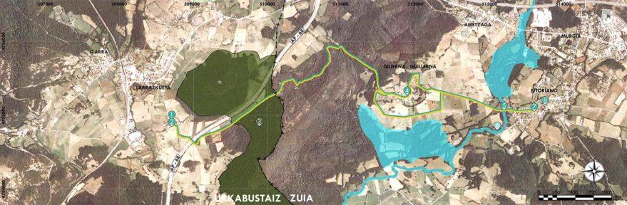Mapa ruta Bitoriano Larrazkueta