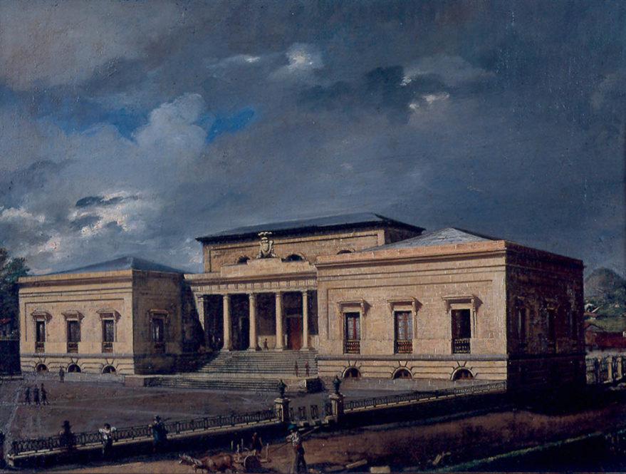 Vista del Palacio de la Provincia, de Juan Ángel Sáez