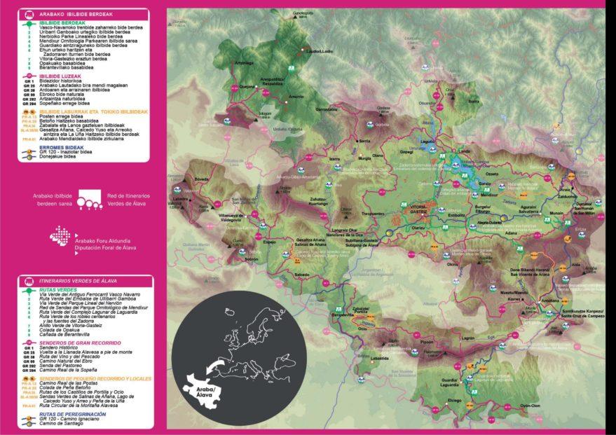 Red itinerarios verdes Alava