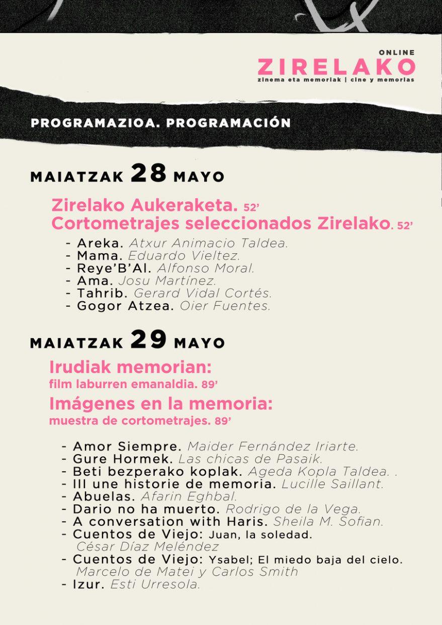 Programa Zirelako Online 2020