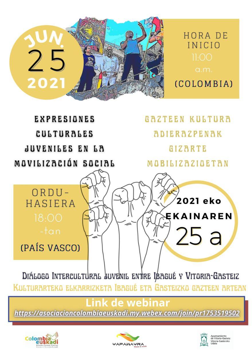 asociacion colombia euskadi protestas