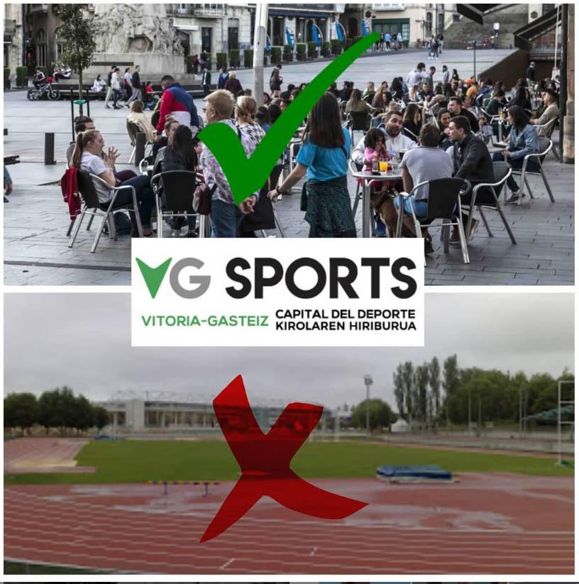 pista atletismo cerrada