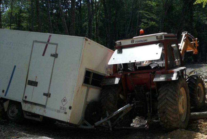 muere tractor remolque álava peñacerrada