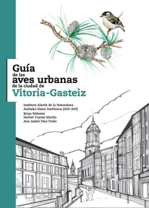 """Portada """"Guía de las aves urbanas de la ciudad de Vitoria-Gasteiz"""""""