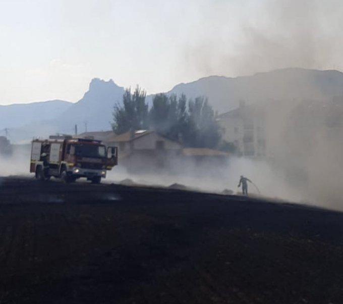 Incendio en Yécora. Foto de Bomberos Áraba