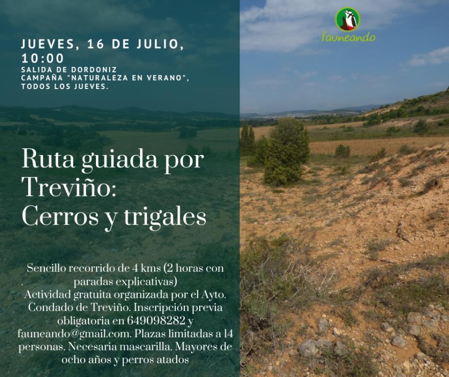 Cartel ruta guiada por Treviño