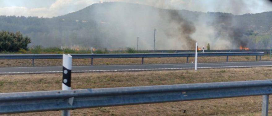 incendio en Armiñón, visto desde la A1