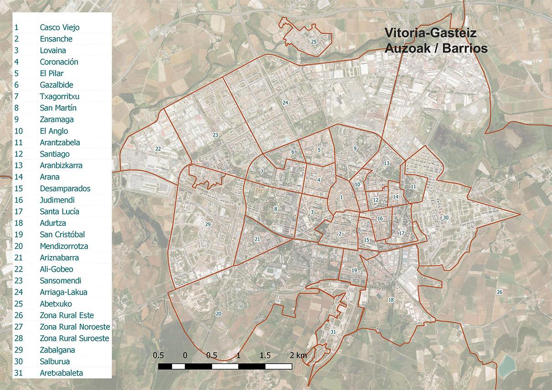 Los barrios de Vitoria-Gasteiz: ¿cómo se divide la ciudad?