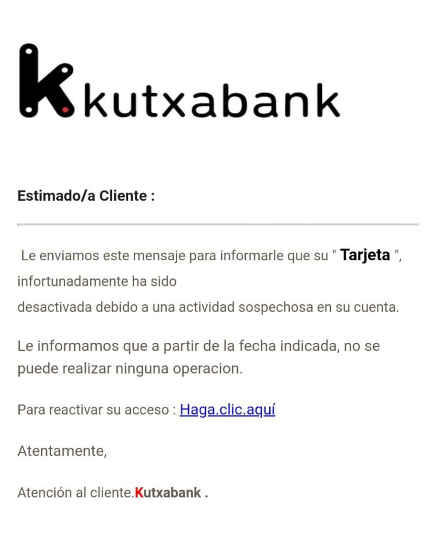 kutxabank phising