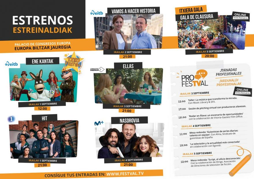 Programa de estrenos en FesTVal