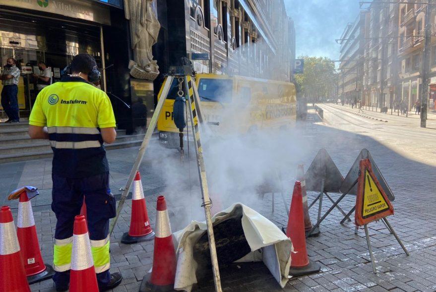 vapor agua encamisado tuberias