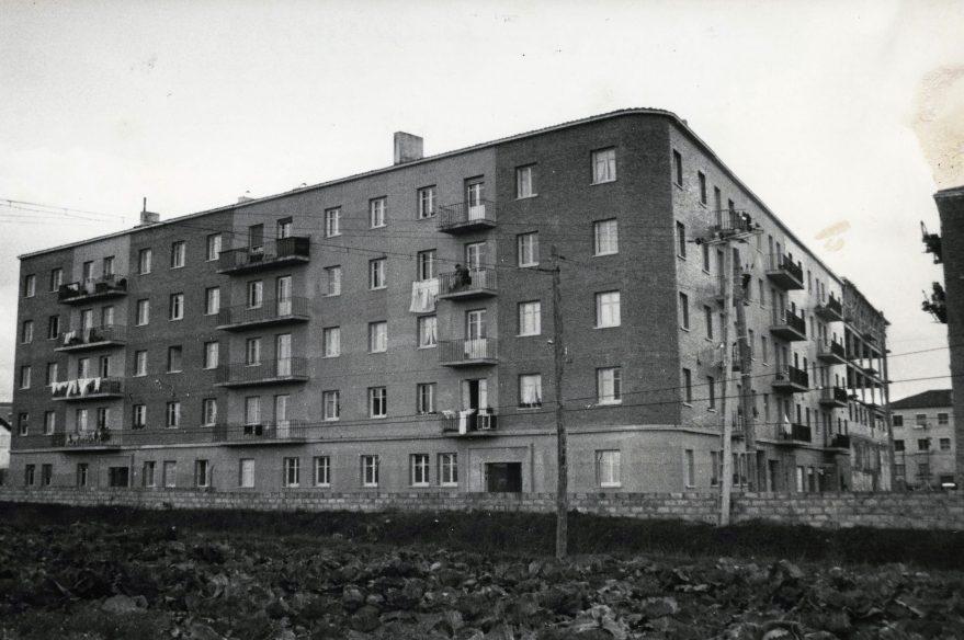 Grupo de viviendas promovidas por la empresa Bantu año 1960-61. ATHA.