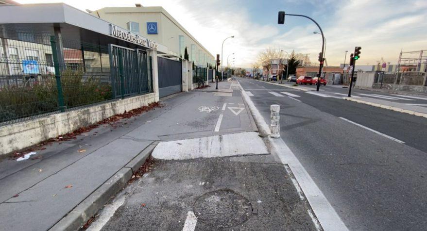carril bici avenida de los huetos vitoria mercedes