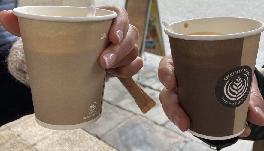 cafe para llevar permitido
