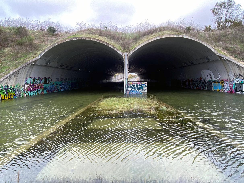 Vitoria estrena 'piscina' semicubierta en los túneles de Armentia | Gasteiz Hoy