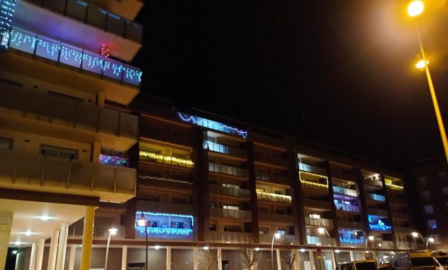 luces de navidad vitoria balcones