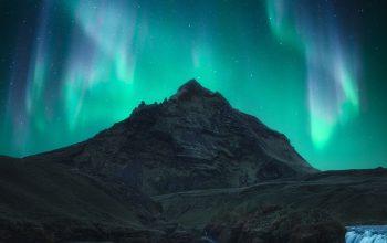 La aurora boreal captada por el fotógrafo alavés Joaquín Marco