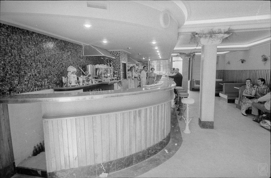 Aspecto del Bar Deportivo en 1957. AMVG.