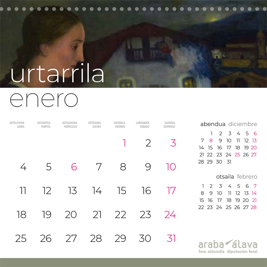 calendario diputacion bellas artes