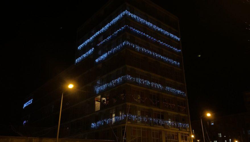 luces de navidad balcones vitoria