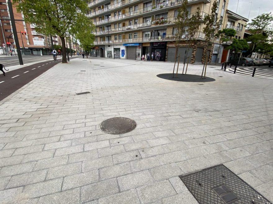 plaza calle florida los herran obras tranvia