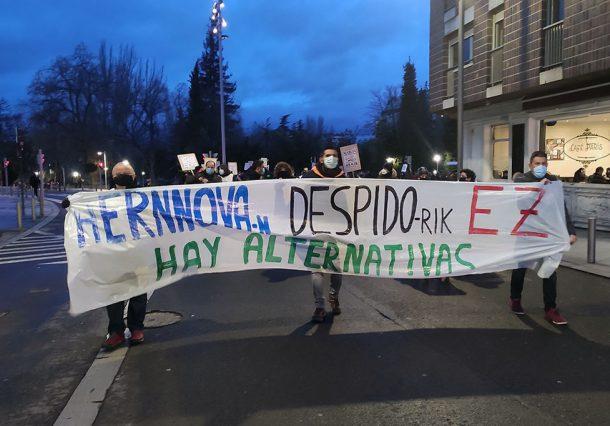 Los trabajadores de Aernnova continúan con sus protestas