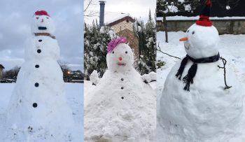 nieve muñecos vitoria enero