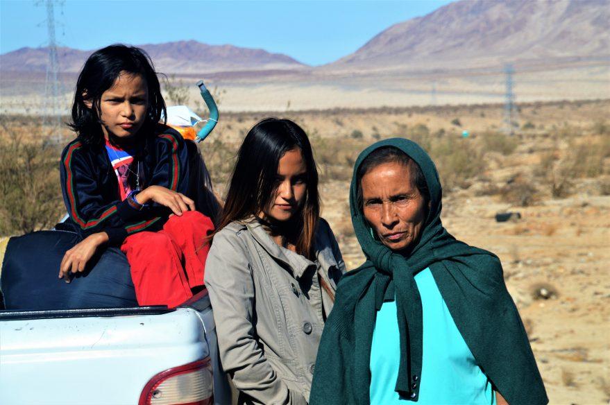 Rosaura Pineda y sus dos hijos, Celeste e Isaac