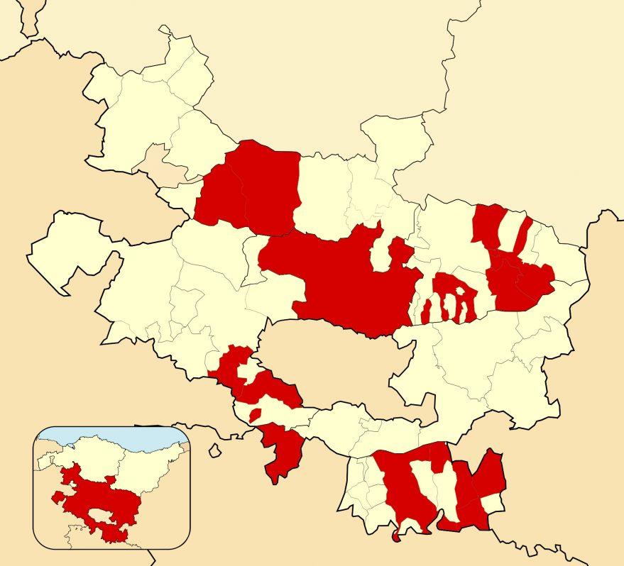 incidencia alava municipios zona roja