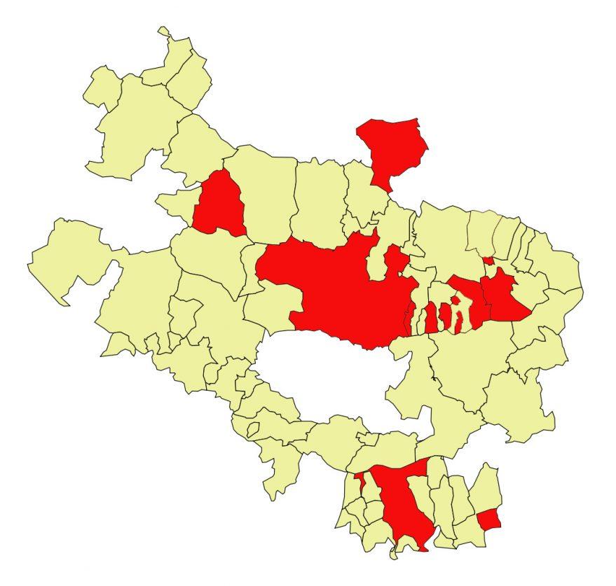 municipios de alava zona roja